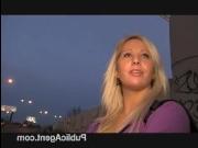 Кастинг женщины за 40 в ночном городе с окончанием в ротик